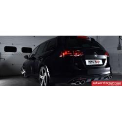 """VW Golf R SportsCombi mk7 Milltek Sport 3"""" Cat-Back avgassystem (använder original utblås i stötfångaren)"""
