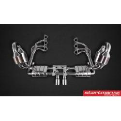 Porsche 991 GT3 Capristo komplett avgassystem med grenrör med aktiva avgasventiler och racekatalysatorer