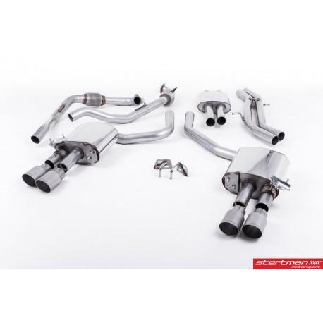 Audi S4 3,0TFSi V6 B9 Milltek Sport Cat-Back 4x 90 chrome GT utblås (med original avgasstyrning)