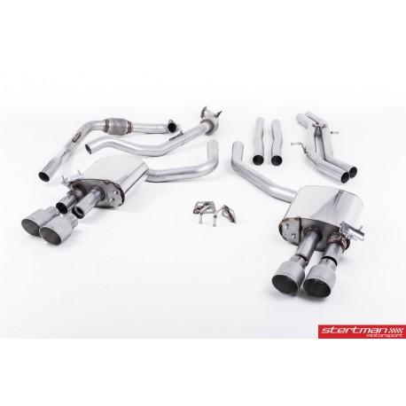 Audi S4 3,0TFSi V6 B9 Milltek Sport Cat-Back 4x 100 titan GT utblås (med original avgasstyrning)