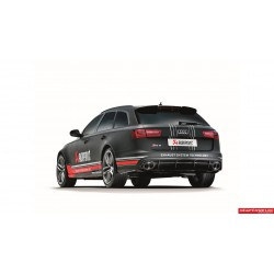Audi RS6 Akrapovic Evolution System i Titan med kolfiber utblås