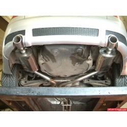 Audi A4 1,8T 163HK B6 Milltek Sport Cat-Back 2x 100 chrome JET utblås