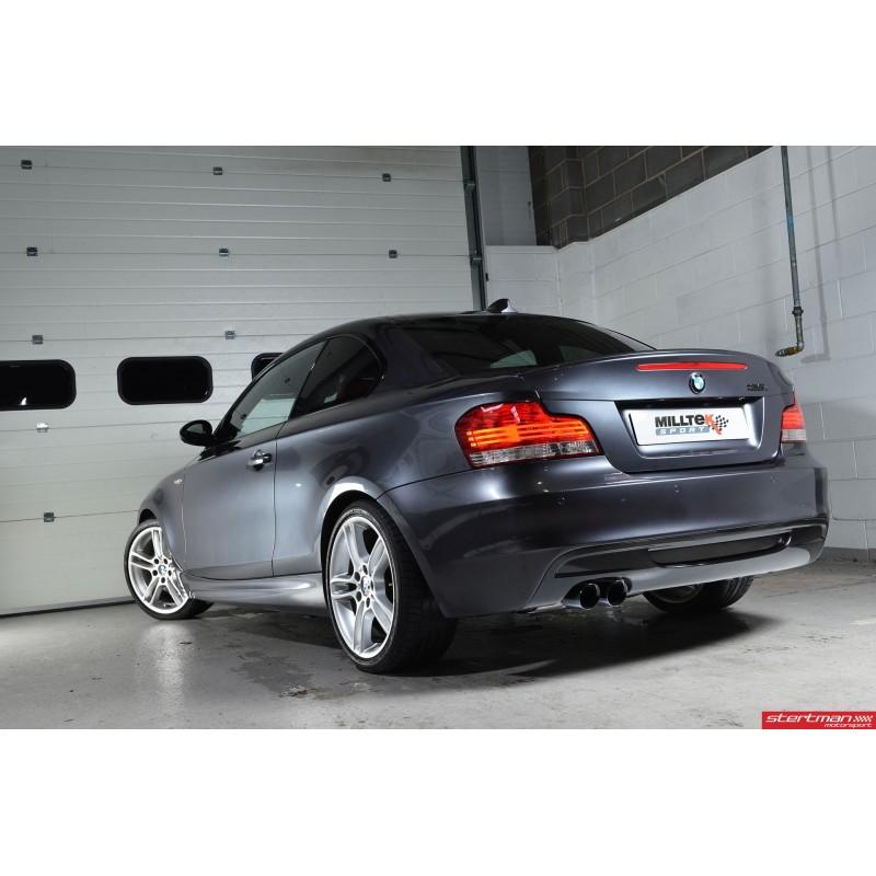 BMW 135i N55 E82 Milltek Sport Turbo-Back 2x 80 Svarta GT