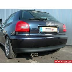 Audi A3 1,9TDi (framhjulsdriven) Milltek Sport Cat-Back 2x 76,2 chrome JET utblås