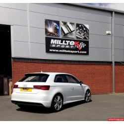 Audi A3 2,0TDi 150hk Milltek Sport Cat-Back 2x 80 chrome GT utblås