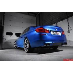 BMW M5 (F10) Milltek Sport Cat-Back 4x 90 svarta GT utblås med aktiva avgasventiler