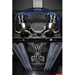BMW M5 (F10) Milltek Sport Cat-Back 4x 90 chrome GT utblås med aktiva avgasventiler