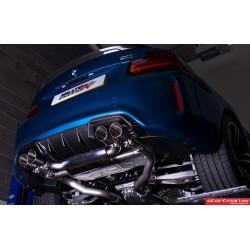 BMW M2 F87 Milltek Sport Cat-Back 4x GT90 Titan utblås med aktiva avgasventiler