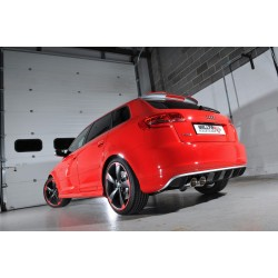 "Audi RS3 2,5TFSi 8P Milltek Sport 3"" Cat-Back 2x 90 Chrome GT utblås med avgasventiler - Resonated (dämpad)"