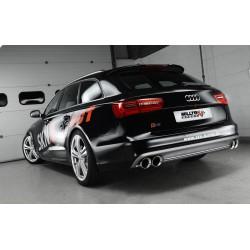 Audi S6 4,0TFSi V8 C7 Milltek Sport Cat-Back 4x 100 chrome GT utblås - Resonated (dämpad)