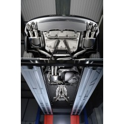 Audi S7 4,0TFSi V8 C7 Milltek Sport Cat-Back 4x 100 chrome GT utblås - Non-Resonated (mindre-dämpad)