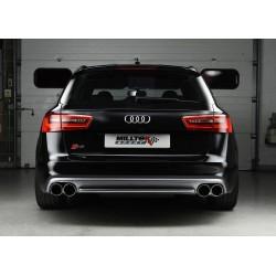 Audi S6 4,0TFSi V8 C7 Milltek Sport Cat-Back 4x 100 chrome GT utblås med aktiva avgasventiler - Non-Resonated (mindre-dämpad)