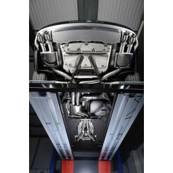 Audi S7 4,0TFSi V8 C7 Milltek Sport Cat-Back 4x 100 chrome GT utblås med aktiva avgasventiler - Non-Resonated (mindre-dämpad)