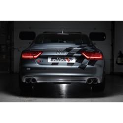 Audi S7 4,0TFSi V8 C7 Milltek Sport Cat-Back 4x 100 svarta GT utblås - Resonated (dämpad)