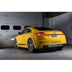 Audi TTS 2,0TFSi 8S Milltek Sport Cat-Back 4x svarta ovala utblås med aktiva avgasventiler - Non-Resonated (mindre-dämpad)