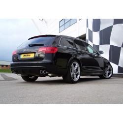 Audi RS6 5,0TFSi C6 Milltek Sport Cat-Back 4x chrome JET utblås - Non-Resonated (mindre-dämpad)