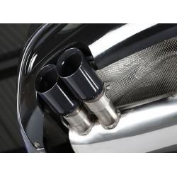 Audi A1 1,4TSi 122HK / 140HK Milltek Sport Cat-Back 2x GT80 Svarta utblås - Resonated (dämpad)