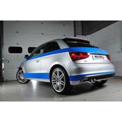 Audi A1 1,4TSi 185 Milltek Sport Cat-Back 2x GT80 Chrome utblås - Non-Resonated (mindre-dämpad)