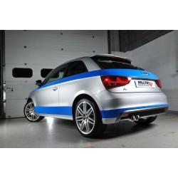 Audi A1 1,4TSi 185 Milltek Sport Cat-Back 2x GT80 Chrome utblås - Resonated (dämpad)