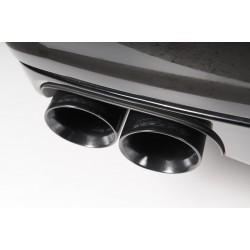 Audi A3 2,0TDi 150hk Milltek Sport Cat-Back 2x 80 svarta GT utblås - Non-Resonated (mindre-dämpad)