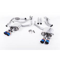 Audi S5 3,0TFSi Sportback B9 utan Sportdiff Milltek Sport Cat-Back 4x 90 brända titan GT utblås (med original avgasstyrning) - N