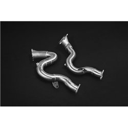 Audi S8 4,0TFSi D4 Capristo downpipes med 200 cells racekatalysatorer