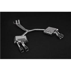 Audi S5 3,0TFSi B9 Capristo Cat-Back Kolfiber utblås med aktiva avgasventiler