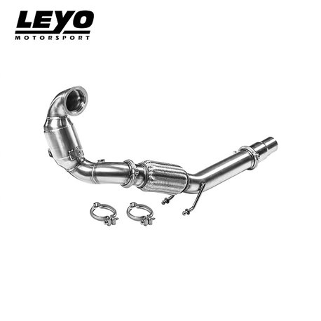 VW Golf GTi mk7 Leyo Motorsport Downpipe med 200 cells racekatalysator