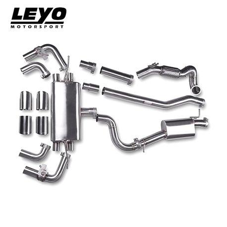 VW Golf R mk7 Leyo Motorsport Turbo-Back avgassystem med avgasventiler och utan katalysator