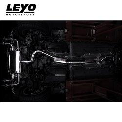 VW Golf R mk7.5 Leyo Motorsport Turbo-Back avgassystem med avgasventiler och utan katalysator