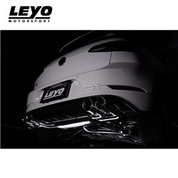 VW Golf R mk7.5 Leyo Motorsport Cat-Back med avgasventiler