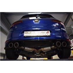 VW Golf R 3/5dörrars mk7 QuickSilver Cat-Back 4x kolfiber utblås med aktiv avgasstyrning