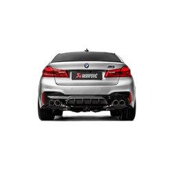 BMW M5 F90 Akrapovic Slip-On System i Titan med kolfiber utblås (för bilar med och utan partikelfilter)