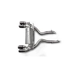 BMW M2 Competition S55 F87 Akrapovic Slip-on i Titan med kolfiber utblås (original avgassystem måste kapas)