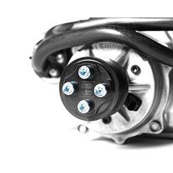 Audi S4 3,0TFSi B8.5 Integrated Engineering remhjul till kompressor bultad med 4 skruvar (sen version)