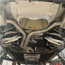 """Audi RS7 4,0TFSi 4K Milltek Sport 3,15"""" Från främre ljuddämpare (delning) och bakåt 2x Chrome Ovala utblås med avgasventiler"""