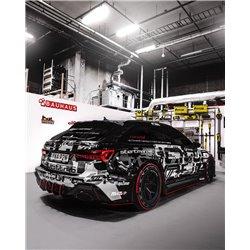 """Audi RS6 4,0TFSi C8 Milltek Sport 3,15"""" Från Partikelfilter och bakåt (måste inte kapas) 2x Svarta Ovala utblås med avgasventile"""