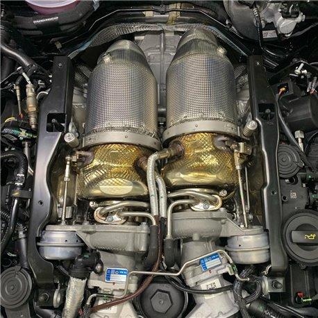 """Lamborghini Urus 4,0TFSi Bi-Turbo V8 Milltek Sport 3,15"""" Downpipes med värme skydd utan katalysatorer & partikelfilter"""