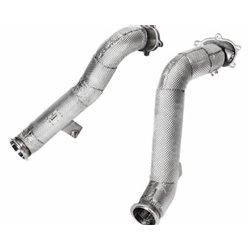 Audi RS7 4,0TFSi V8 4G Akrapovic Link pipe / Downpipes utan katalysatorer till Akrapovic Evolution (rostfritt stål)