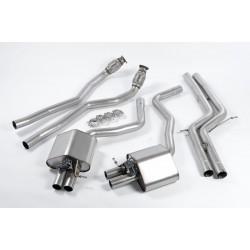 Audi RS7 4,0TFSi 4G Milltek Sport Turbo-Back avgassystem utan katalysator använder original avgasventiler - Road (mellan-dämpad)