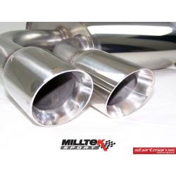 Audi A3 2,0TDi 140hk (framhjulsdriven) Milltek Sport Cat-Back 2x 80 chrome GT utblås