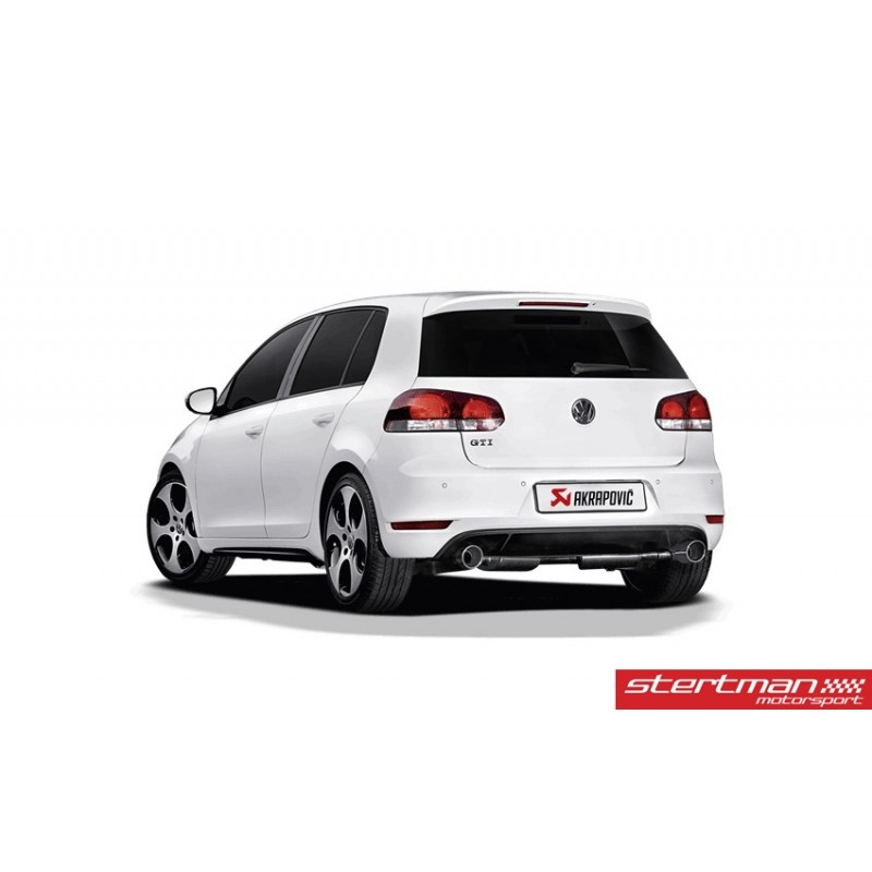 volkswagen golf gti mk6 akrapovic slip on i rostfritt. Black Bedroom Furniture Sets. Home Design Ideas