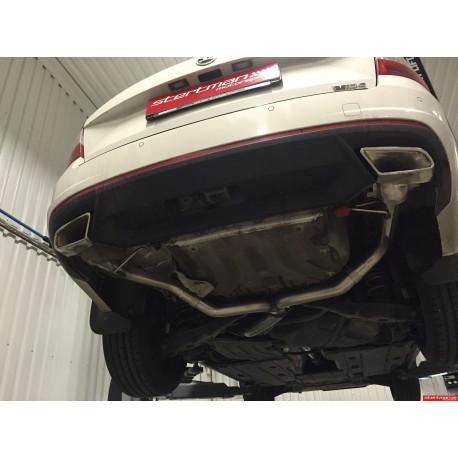 Skoda Octavia 2,0TDi RS (2WD) Milltek Sport Cat-Back Non-Resonated avgassystem med dubla utblås